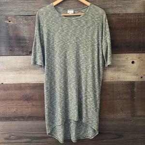 LulaRoe Olive Green Irma Tunic Oversized Tee Shirt